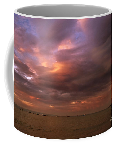 Pembrokeshire Coffee Mug featuring the photograph The Evening Sky by Angel Tarantella
