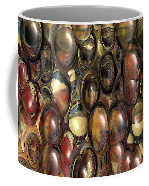 Abstract Coffee Mug featuring the painting The Eye Bank by RC DeWinter