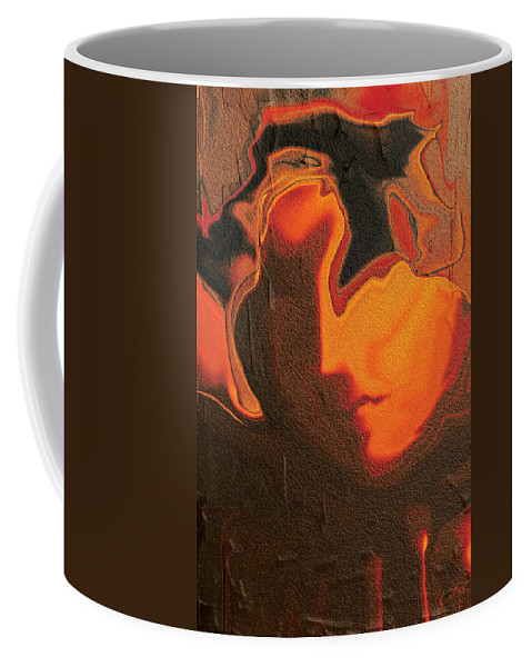 Abstract Coffee Mug featuring the digital art The Face 2 by Rabi Khan