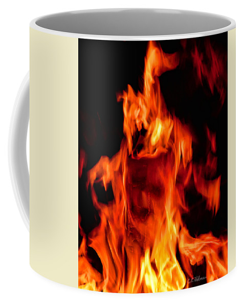 Fire Coffee Mug featuring the photograph The Face Of Fire by Christopher Holmes