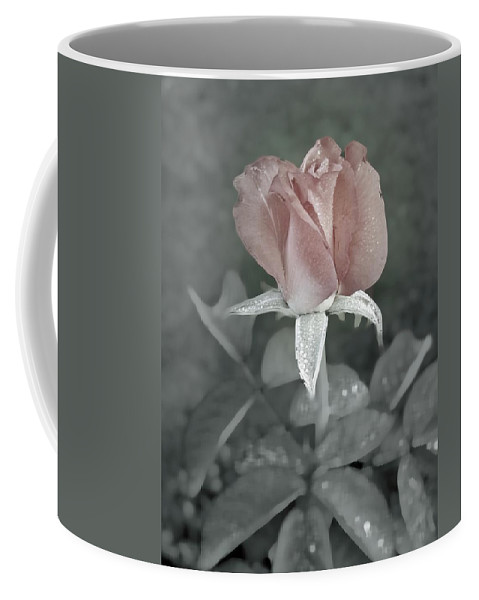 Rose Coffee Mug featuring the digital art The Faded Rose by Robert Meanor
