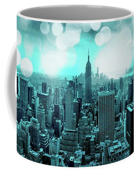 Empire State Building Coffee Mug featuring the photograph The Fairytale Begins by Az Jackson