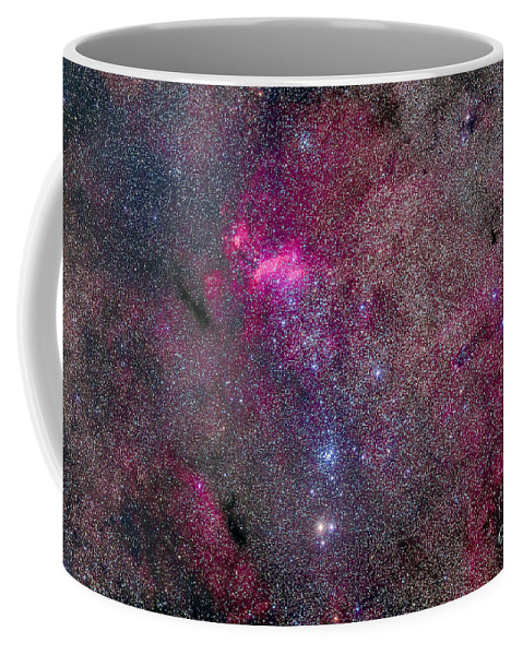 Emission Nebula Coffee Mug featuring the photograph The False Comet Cluster Area by Alan Dyer