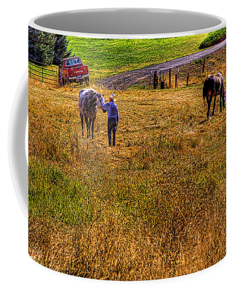 Landscape Coffee Mug featuring the photograph The Farmers Friend by David Patterson