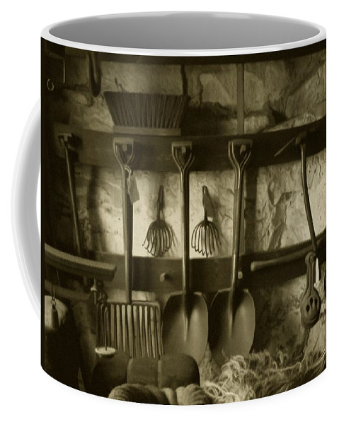 Farming Coffee Mug featuring the photograph The Farmer's Toolshed by RC deWinter