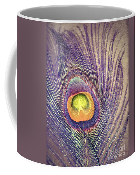 Feather Coffee Mug featuring the photograph The Feather In Colour by Tara Turner