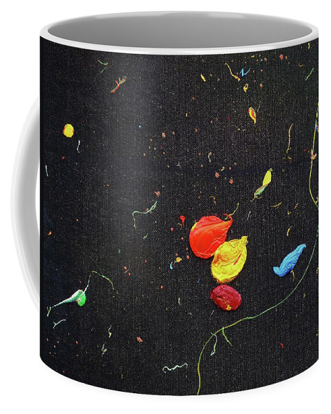 Abstract Coffee Mug featuring the painting The Final Frontier by Charles Stuart
