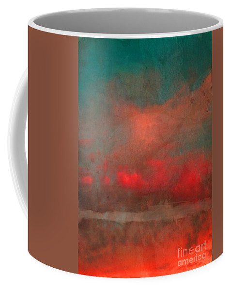 Abstract Coffee Mug featuring the photograph The Fire Clouds by Tara Turner