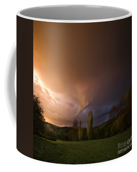 Sunset Coffee Mug featuring the photograph The Fire On The Sky by Angel Ciesniarska