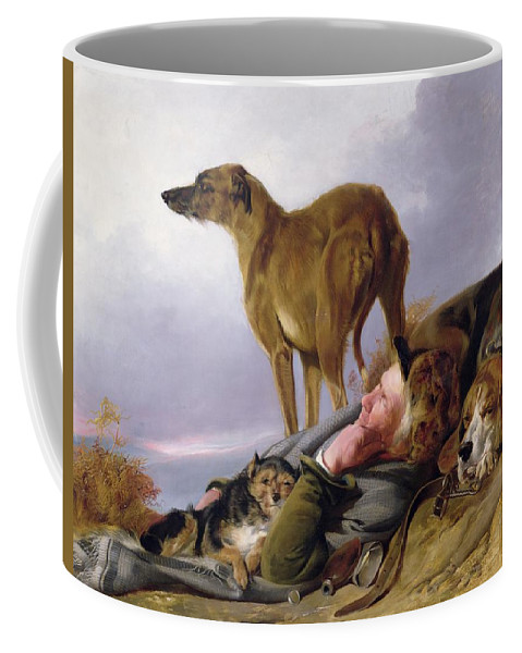 Coffee Mug featuring the painting The First Watch by Richard Ansdell