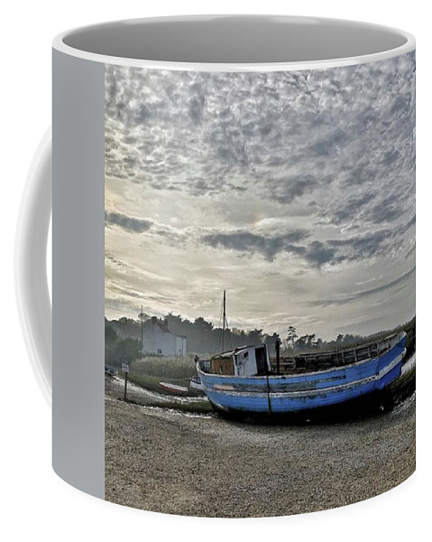 Beautiful Coffee Mug featuring the photograph The Fixer-upper, Brancaster Staithe by John Edwards