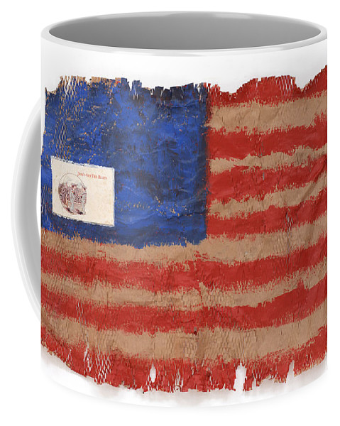 Flag Coffee Mug featuring the mixed media The Flag by Jaime Becker