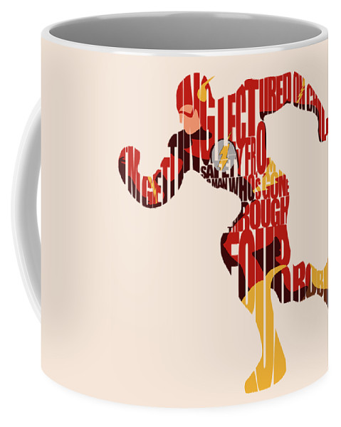 Flash Coffee Mug featuring the digital art The Flash by Inspirowl Design
