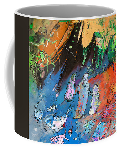 Fantasy Art Coffee Mug featuring the painting The Flood by Miki De Goodaboom