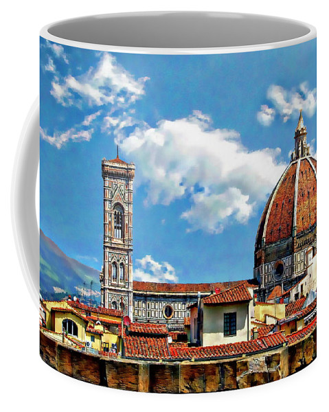 Italy Coffee Mug featuring the photograph The Florence Cathedral by Anthony Dezenzio