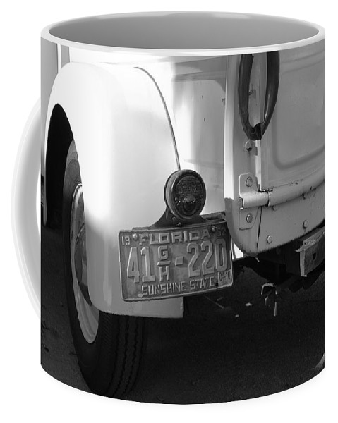 Black And White Coffee Mug featuring the photograph The Florida Dodge by Rob Hans