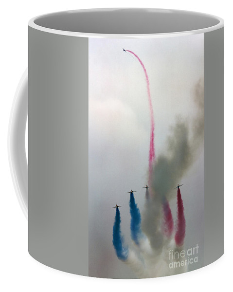 Red Arrows Coffee Mug featuring the photograph The Flower by Angel Tarantella
