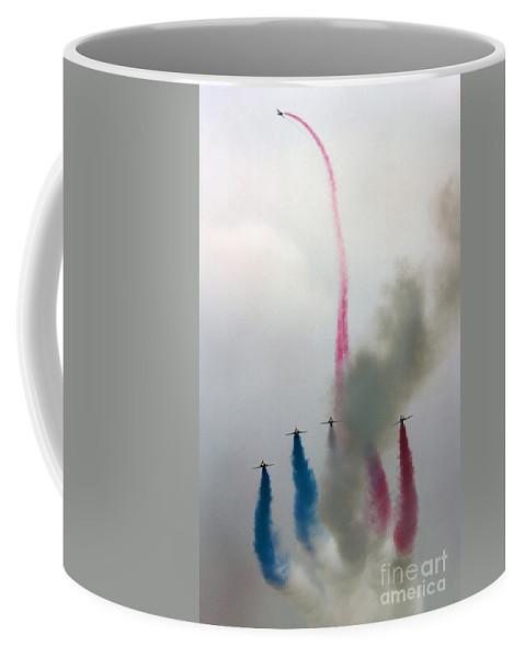 Red Arrows Coffee Mug featuring the photograph The Flower by Angel Ciesniarska