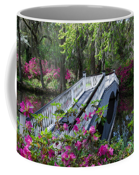 Flowers Coffee Mug featuring the photograph The Flower Bridge by Susanne Van Hulst