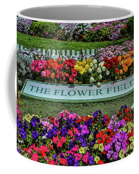 Flowers Coffee Mug featuring the photograph The Flower Field by Tommy Anderson