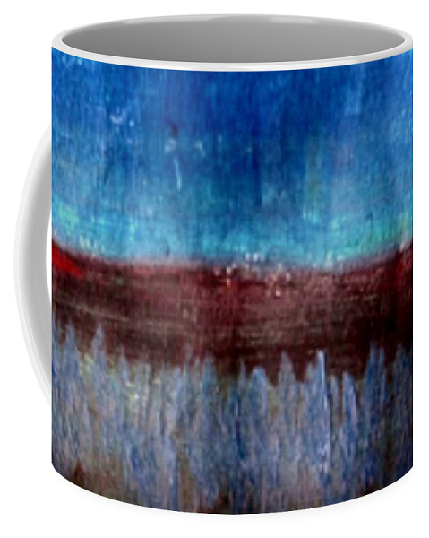 Flowers Coffee Mug featuring the painting The Flower Valley by Pepita Selles