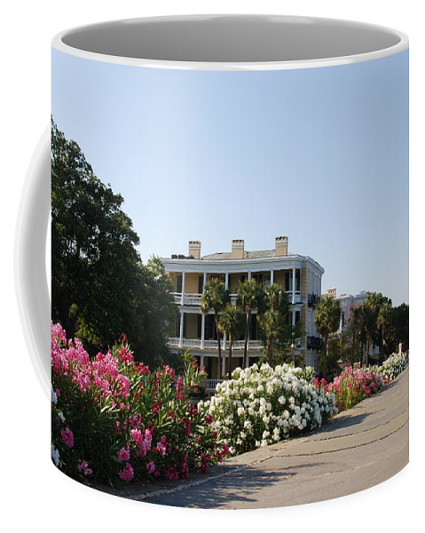 Photography Coffee Mug featuring the photograph The Flowers At The Battery Charleston Sc by Susanne Van Hulst
