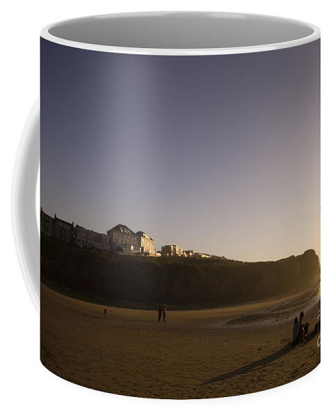 Beach Coffee Mug featuring the photograph The Flying Ones by Angel Ciesniarska