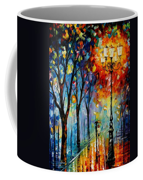 Afremov Coffee Mug featuring the painting The Fog Of Dreams by Leonid Afremov