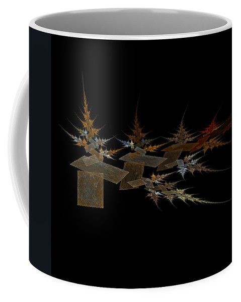 Digital Painting Coffee Mug featuring the digital art The Forest Dark And Deep by Jackie Mueller-Jones