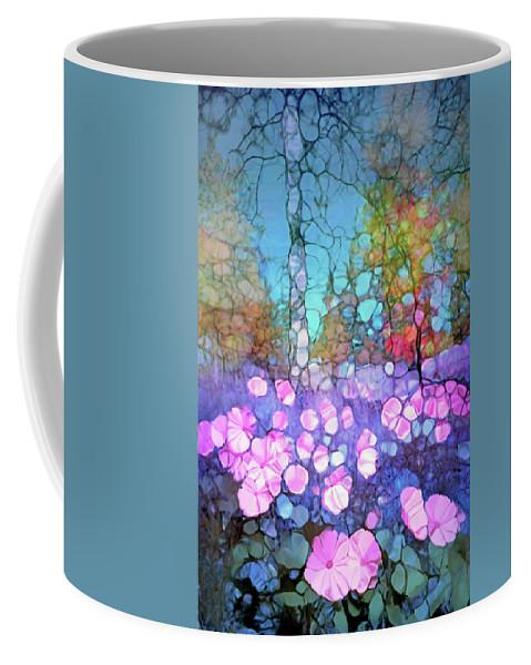Light Coffee Mug featuring the digital art The Forest Floor In Bloom by Tara Turner