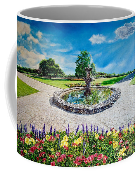 Wild Flowers Coffee Mug featuring the painting Gushing Fountain by Michel Angelo Rossi