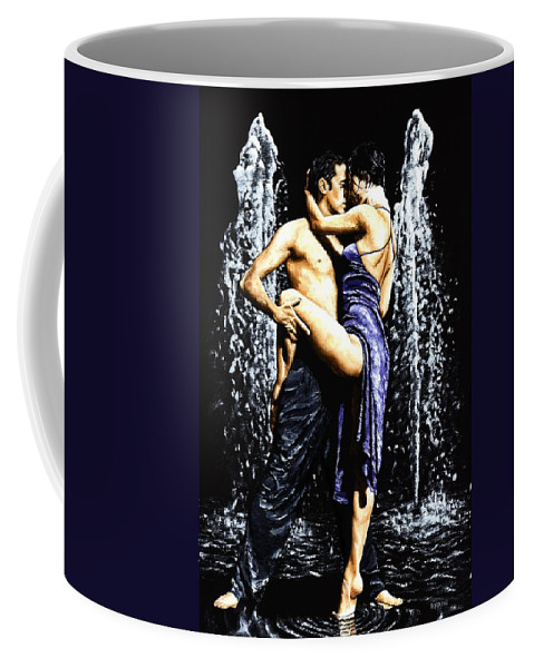 Tango Coffee Mug featuring the painting The Fountain Of Tango by Richard Young