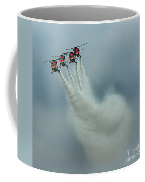 Sarangs Coffee Mug featuring the photograph The Four-headed Dragon by Angel Ciesniarska