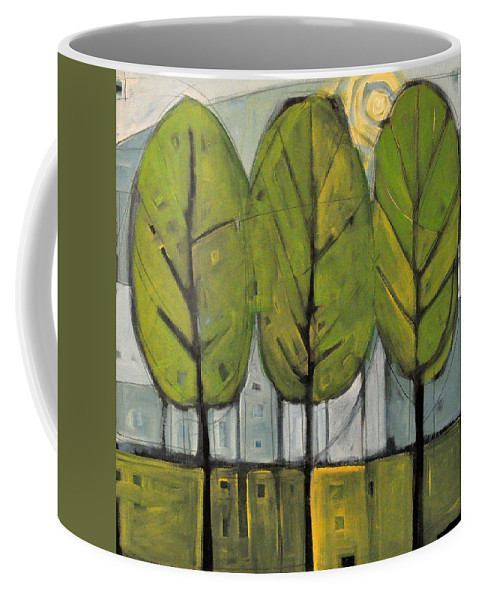 Trees Coffee Mug featuring the painting The Four Seasons - Summer by Tim Nyberg