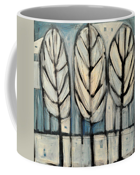 Trees Coffee Mug featuring the painting The Four Seasons - Winter by Tim Nyberg