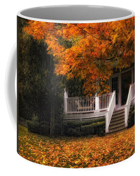 Autumn Coffee Mug featuring the photograph The Front Porch by Jessica Jenney