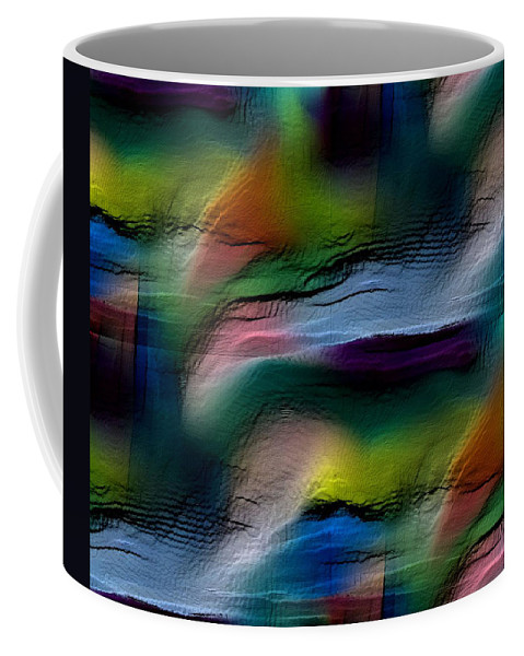 Abstract Coffee Mug featuring the digital art The Future Looks Bright by Ruth Palmer