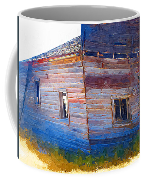 Window Coffee Mug featuring the photograph The Garage by Susan Kinney