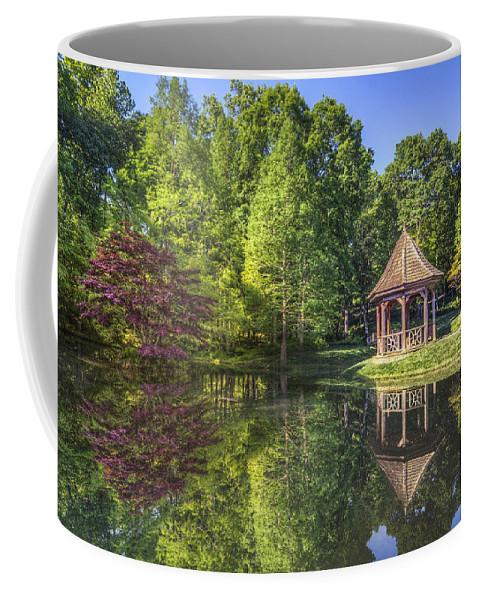 Appalachia Coffee Mug featuring the photograph The Garden Gazebo by Debra and Dave Vanderlaan