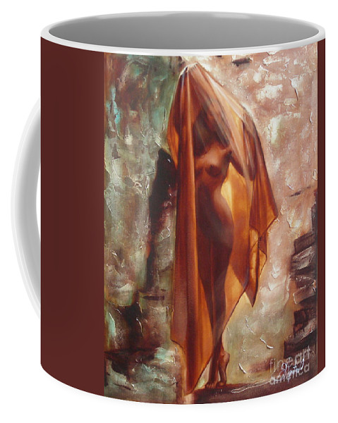 Ignatenko Coffee Mug featuring the painting The Garden Of Stones by Sergey Ignatenko