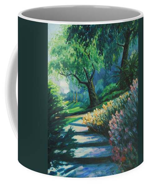 Trees Coffee Mug featuring the painting The Garden by Rick Nederlof