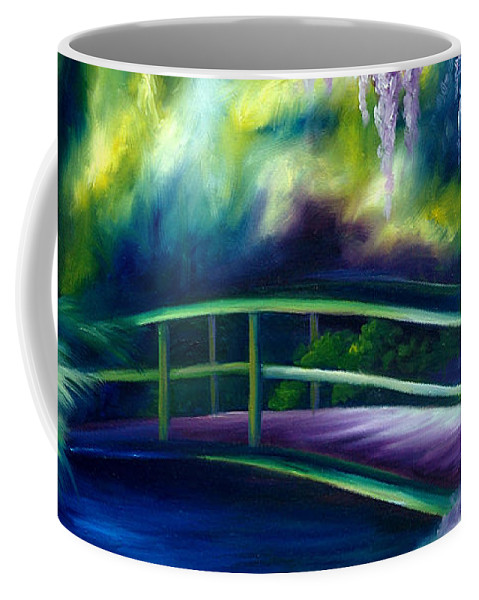 Sunrise Coffee Mug featuring the painting The Gardens of Givernia by James Christopher Hill