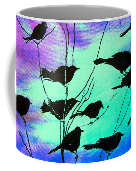 Sunset Coffee Mug featuring the painting The Gathering by Marsha Hale