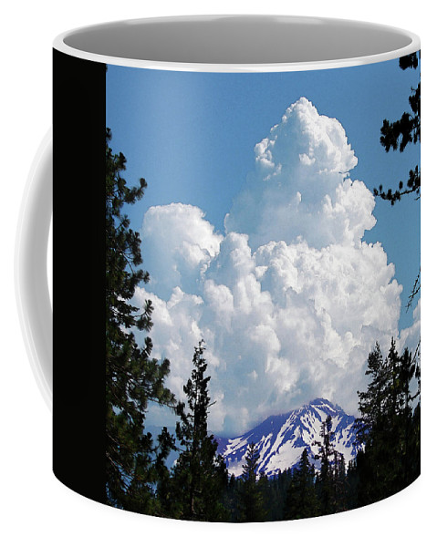 Mountain Coffee Mug featuring the digital art The Gathering by Vicki Lea Eggen