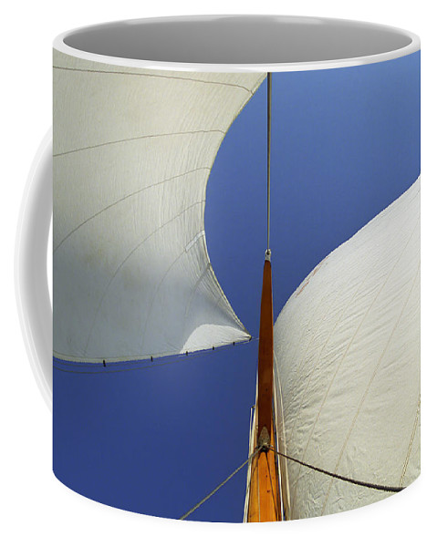 Sailing Coffee Mug featuring the photograph The Genoa And Mainsail Of A Classic Sailboat by John Harmon