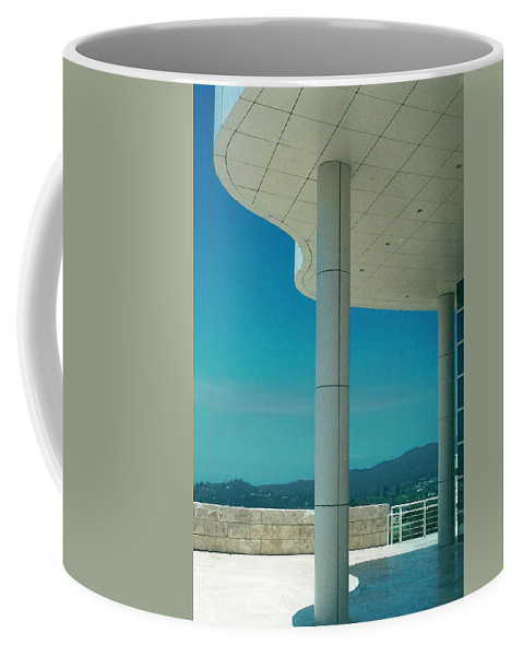 Architecture Coffee Mug featuring the photograph The Getty Panel 2 Of Triptyck by Steve Karol
