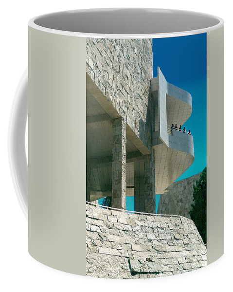 Architecture Coffee Mug featuring the photograph The Getty Panel Three From Triptych by Steve Karol