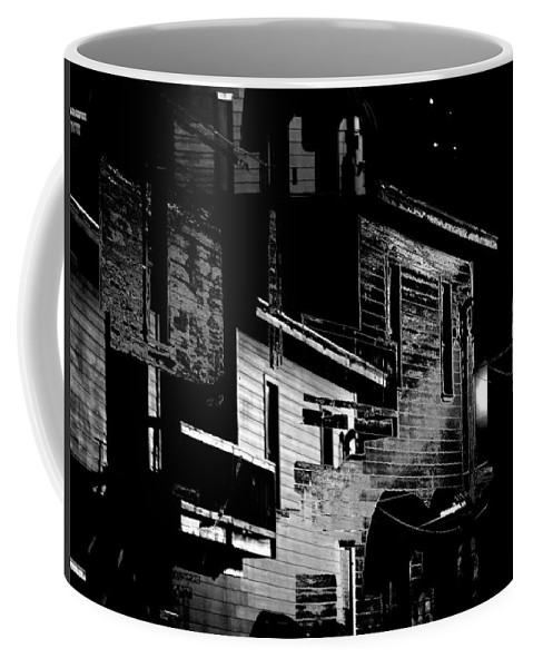 Black And White Coffee Mug featuring the photograph The Ghosts Of Winchester by Nicholas Haddox