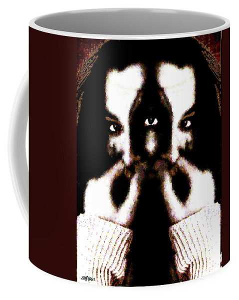 The Giggler Coffee Mug featuring the digital art The Giggler by Seth Weaver