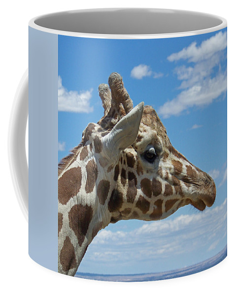 Animals Coffee Mug featuring the photograph The Giraffe by Ernie Echols